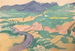 Erle Loran, Two Landscapes