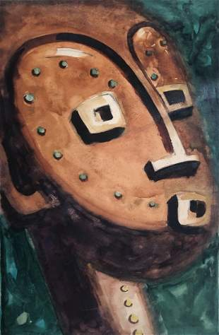 African American, Claude Clark, 1944 Tribal Mask