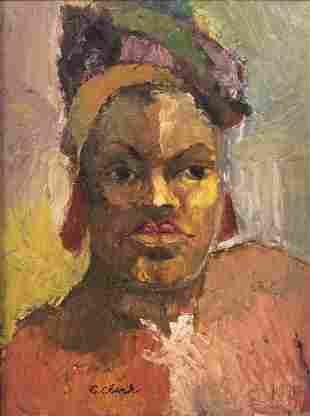 African American, Claude Clark, Wife of the Artist