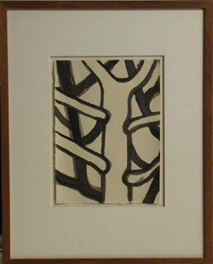 Tim Burns 1947 Australia Abstract Tree