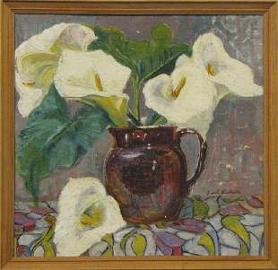 Edith Holmes 18931973 Australia Arum Lillies and