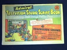 1953 Admiral Television Script Book -Playset