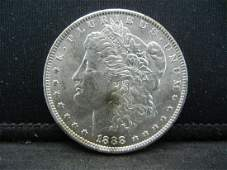 1888O SILVER 90 MORGAN DOLLAR LOOKS MS 65 ONLY