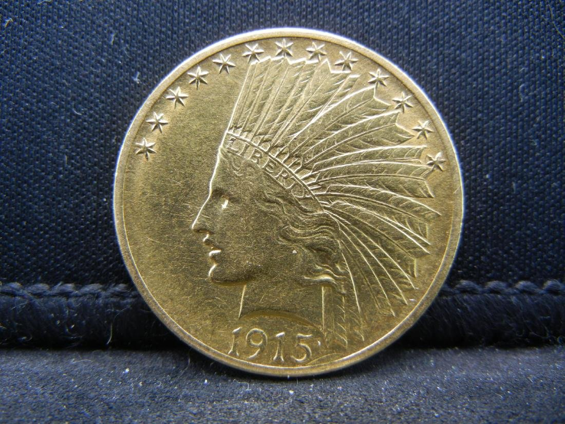 1915 $10 Gold Indian Head