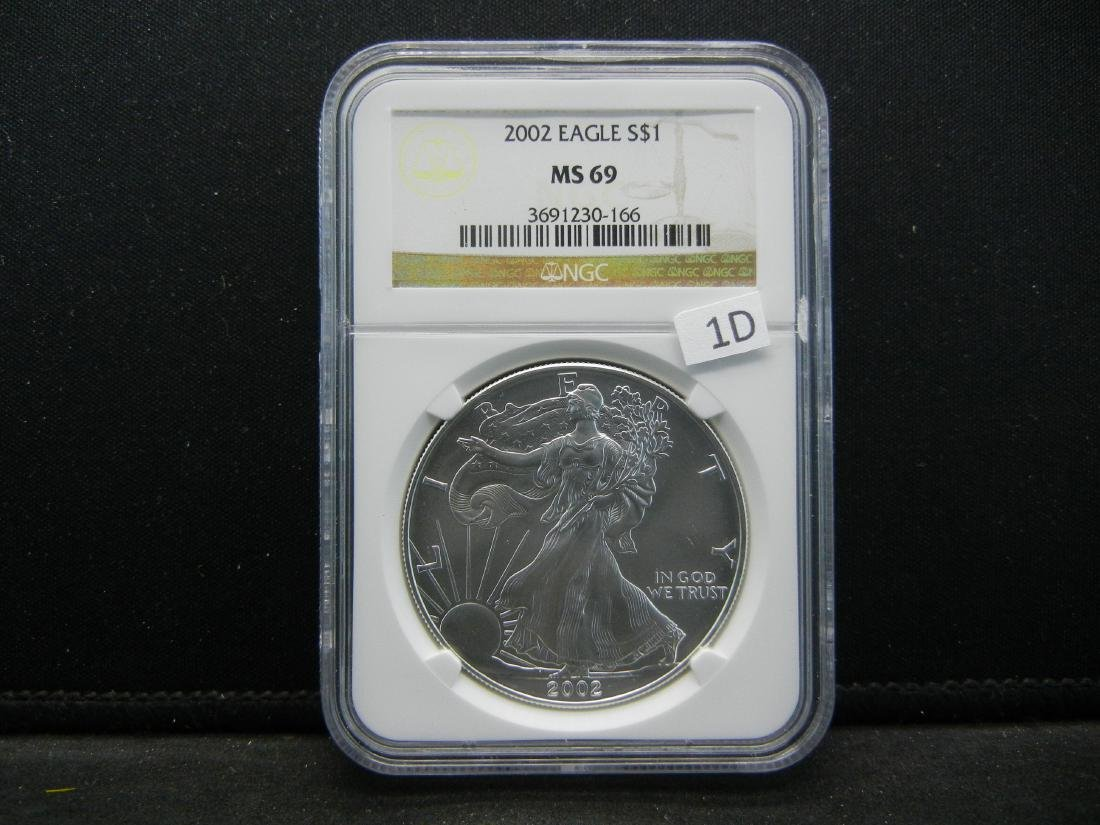 2002 NGC MS69 American Silver Eagle