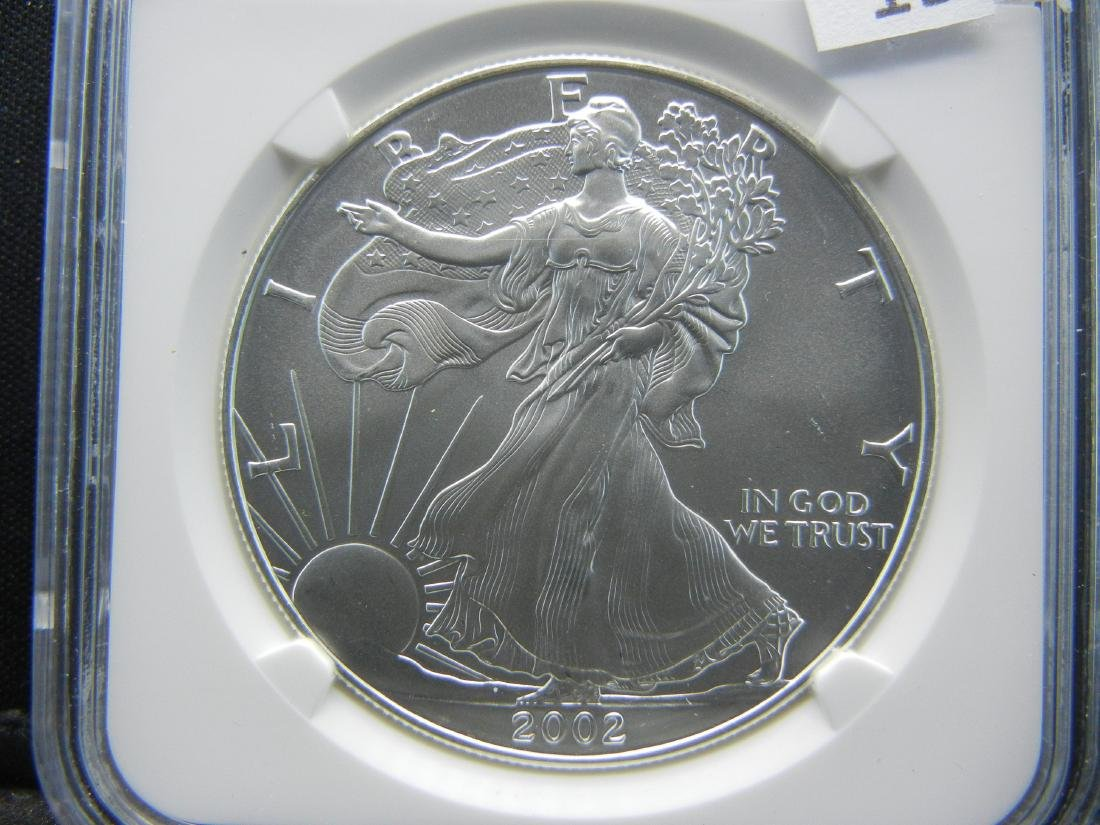 2002 NGC MS69 American Silver Eagle - 2
