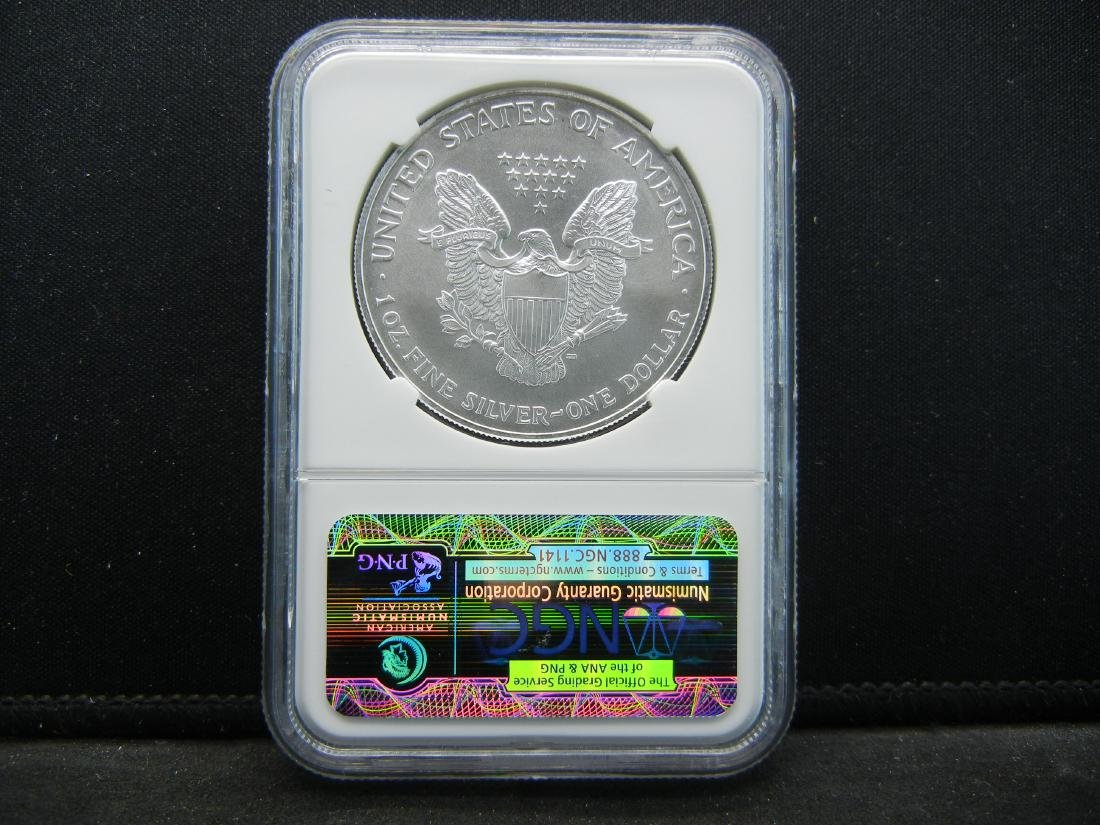 2002 NGC MS69 American Silver Eagle - 4