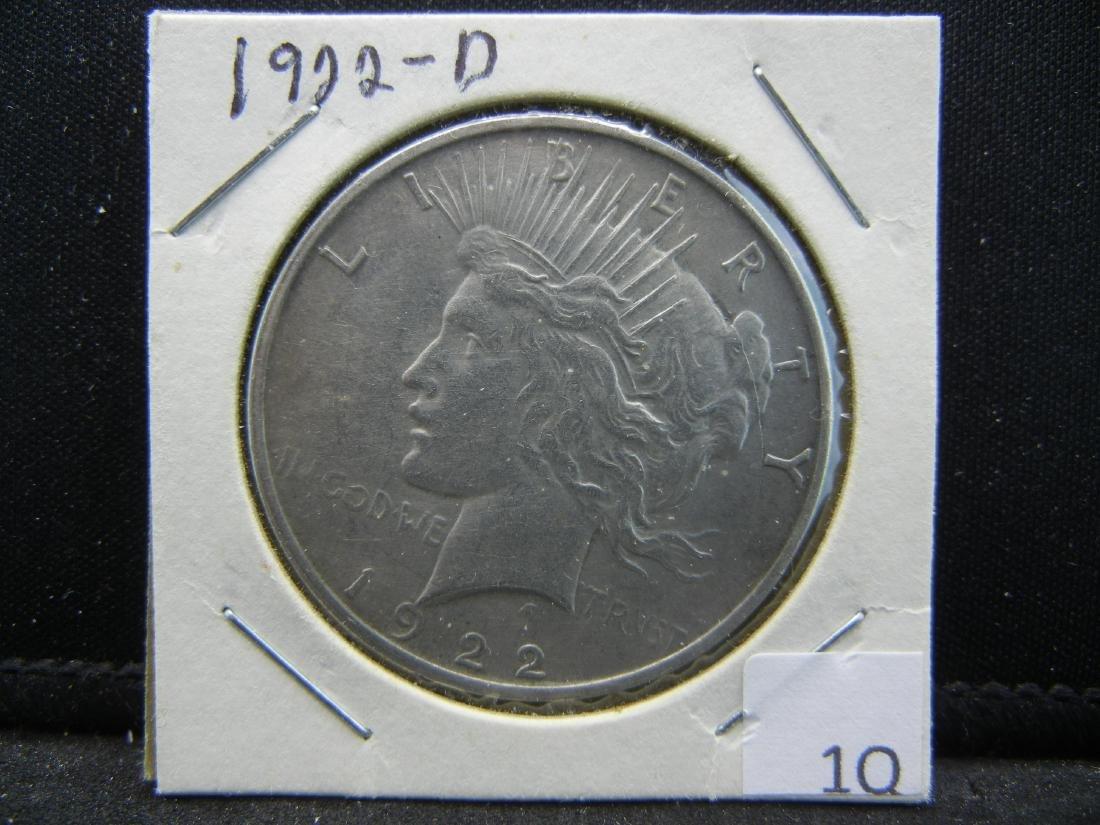 1922-D Peace Dollar - 3