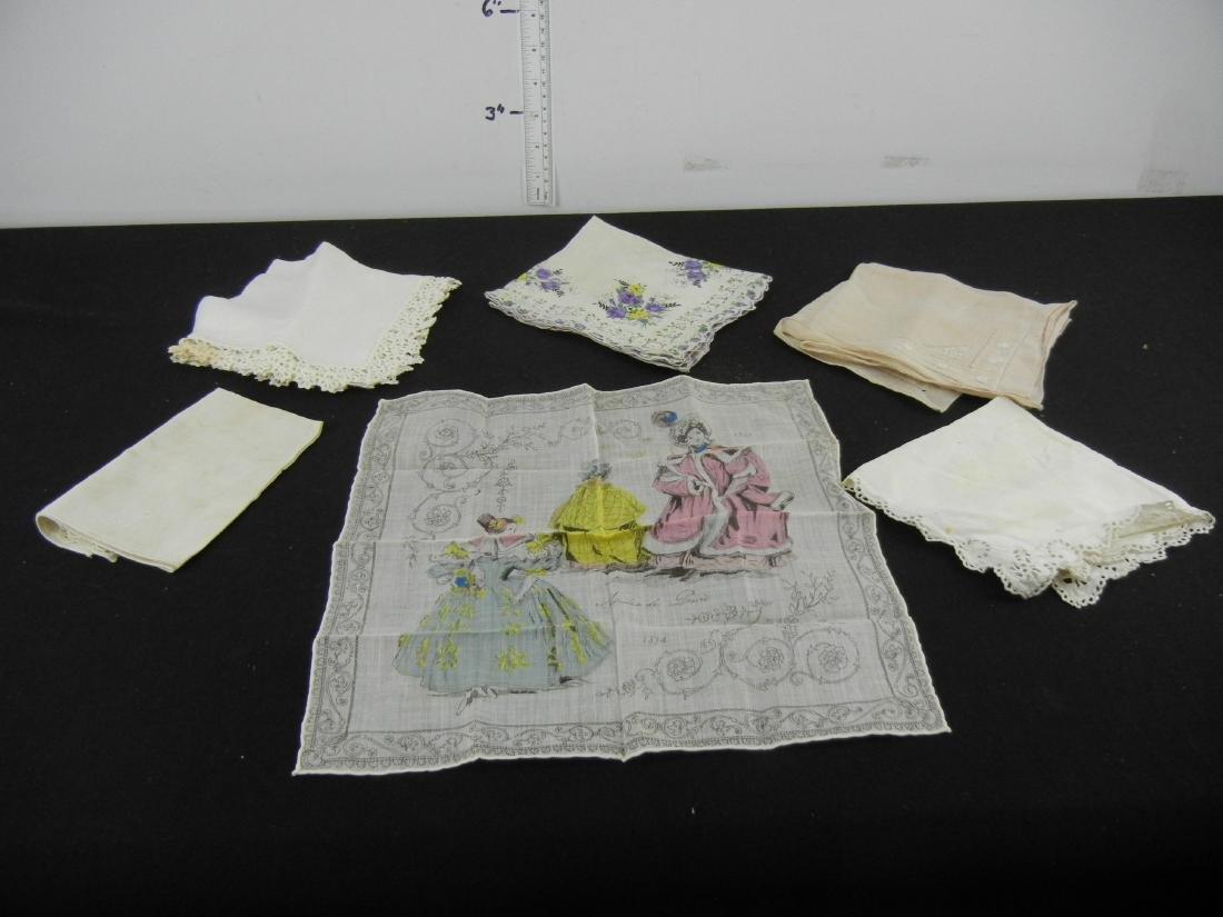 6 Ladies Vintage Handkerchiefs