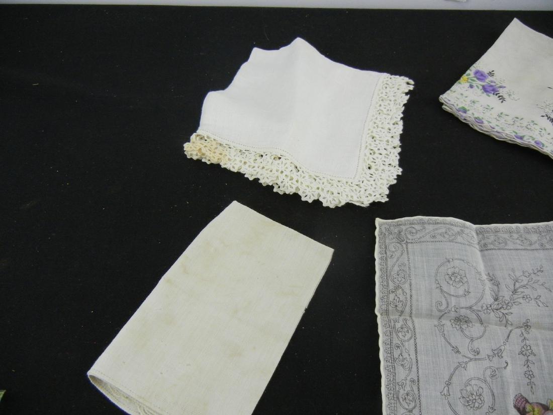 6 Ladies Vintage Handkerchiefs - 2