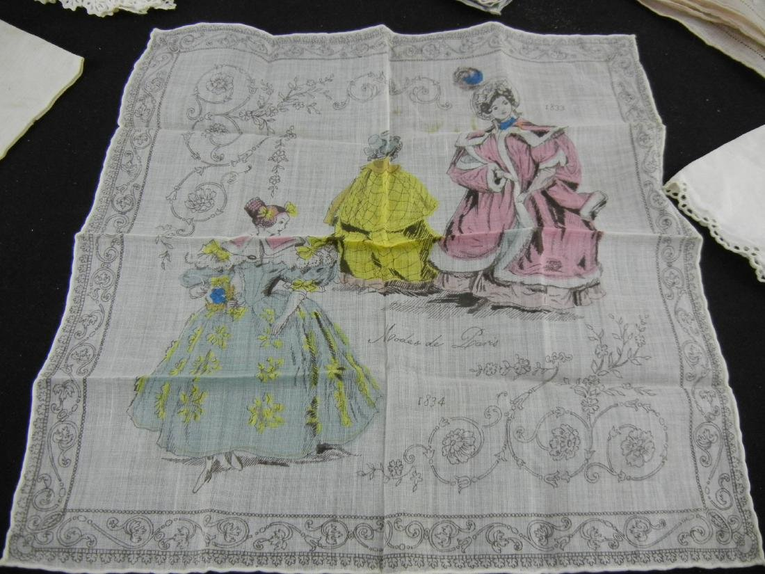 6 Ladies Vintage Handkerchiefs - 3
