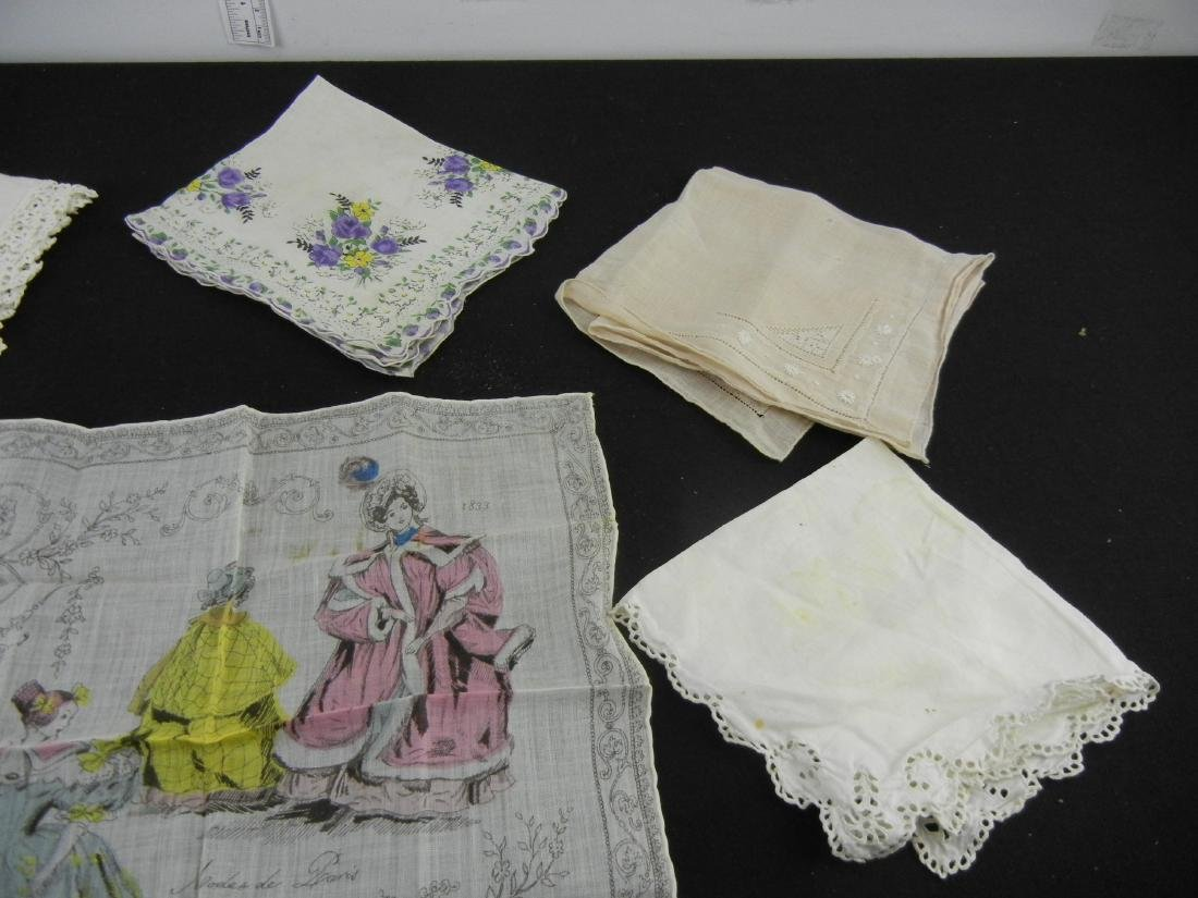 6 Ladies Vintage Handkerchiefs - 4