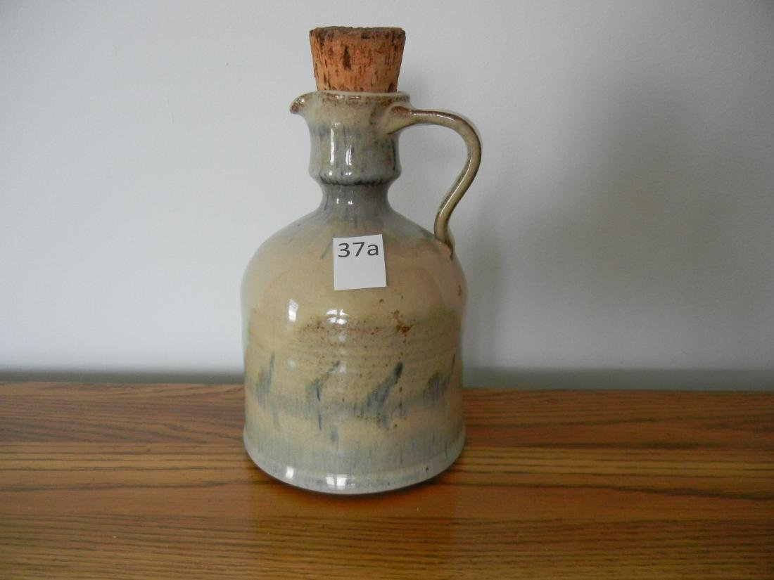 Bears Mill Pottery Jug with Cork, Signed