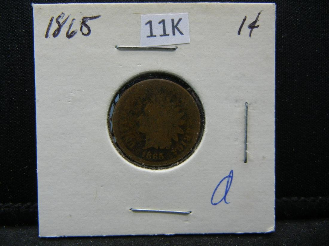 1865 Indian Head Cent - 3
