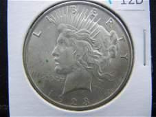 1923 90% Silver Peace Dollar