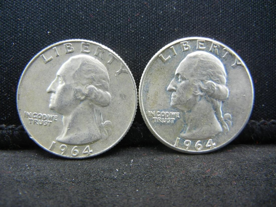 1964-P, D washington Quarters