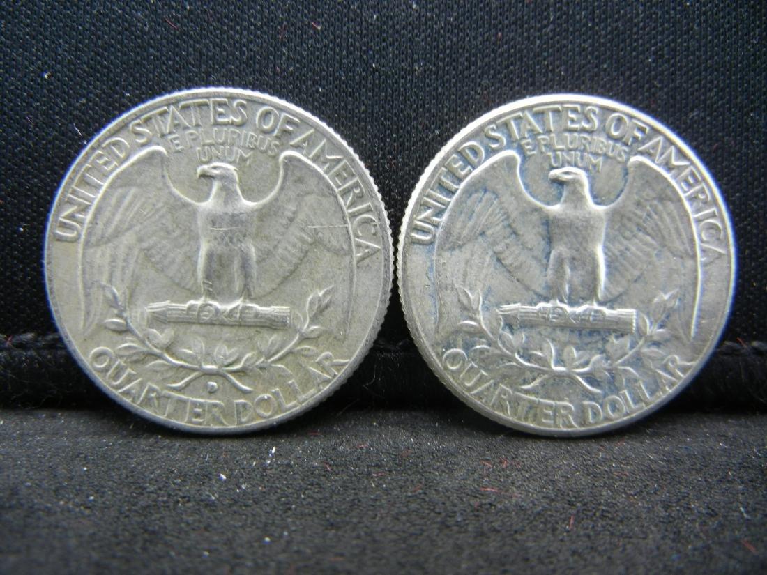 1964-P, D washington Quarters - 2