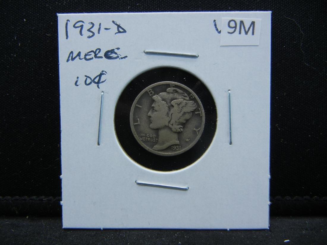 1931-D Mercury Dime - 3