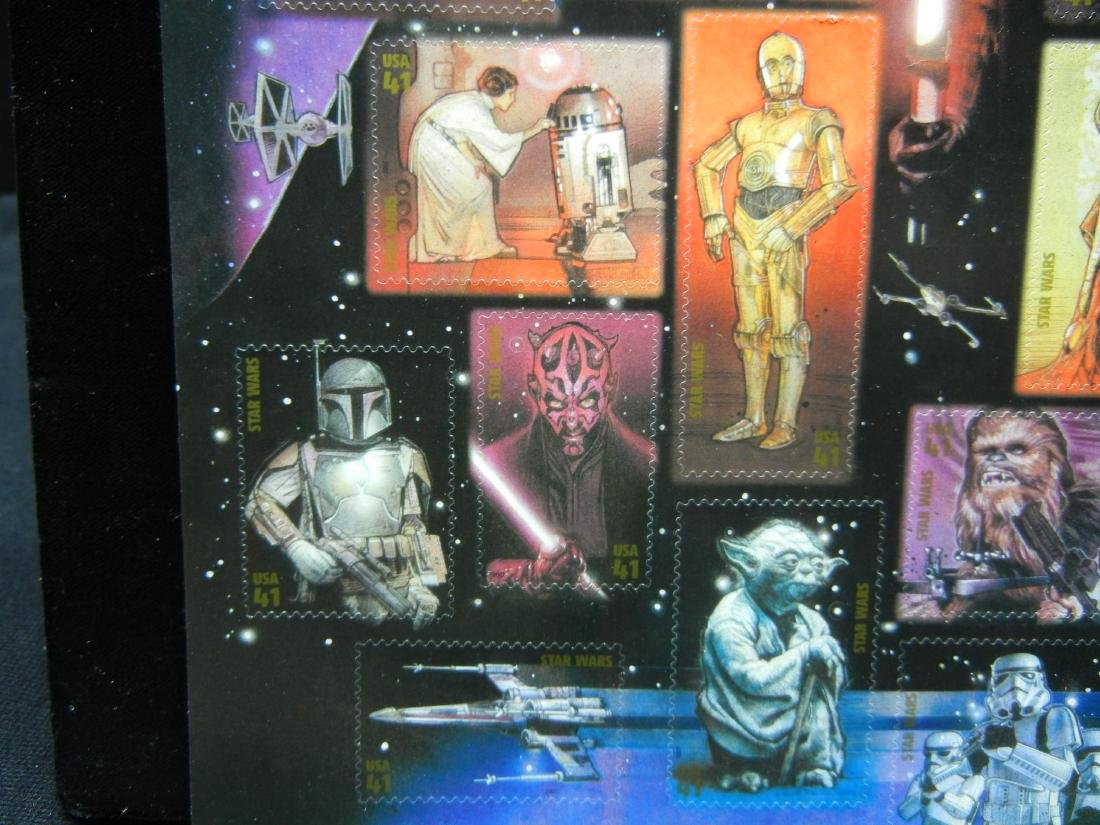 Sheet of Star Wars Stamps - 3