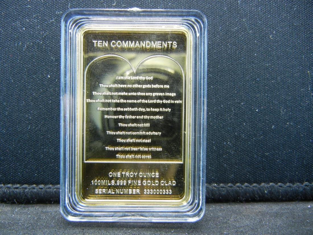 (10 COMMANDMENTS TABLETS), 100 MILLS .999 FINE - 2