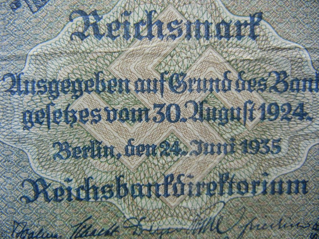 1924 Germany 100 Reich Marks Bank Note.  Serial # - 2