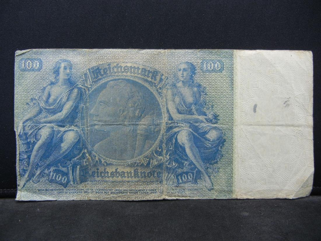 1924 Germany 100 Reich Marks Bank Note.  Serial # - 3