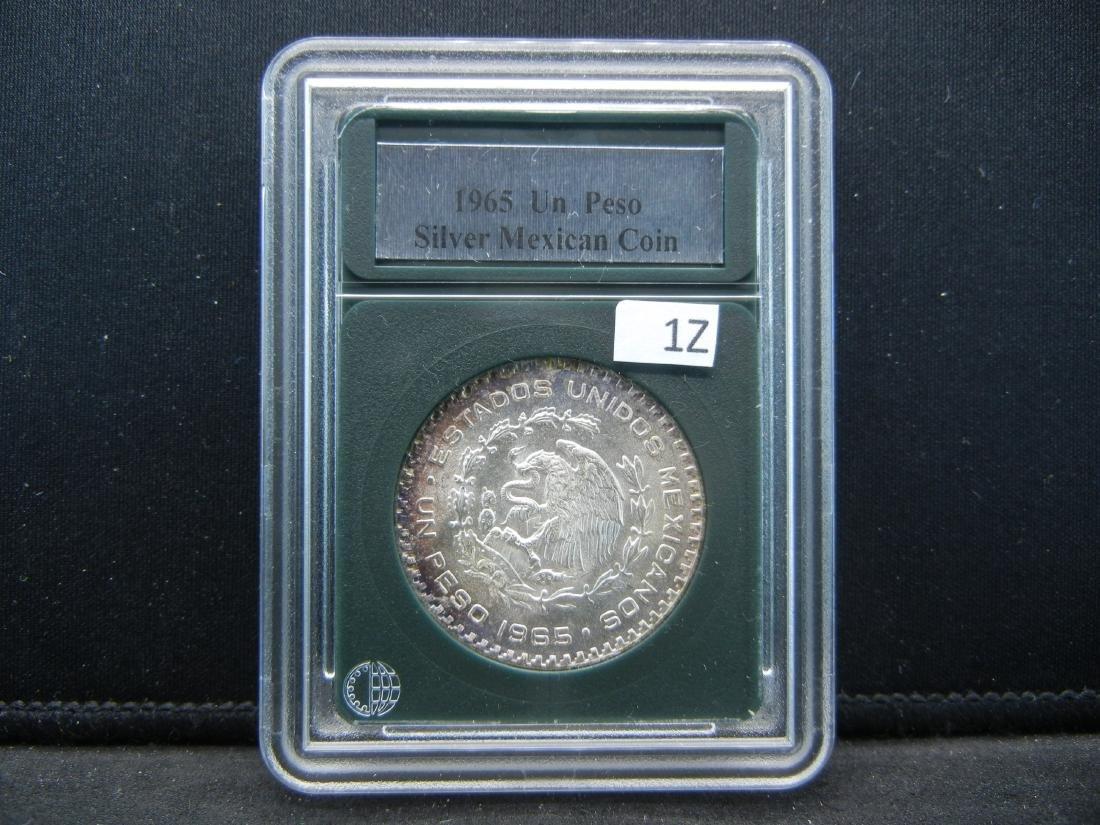 1965 Silver Mexican Peso