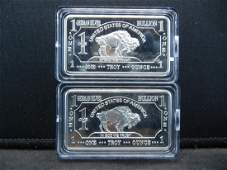 CLAD 2 One Troy Ounce German Silver Collector Bars Clad