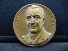 Warren Harding 29th President Medal Manfactured by