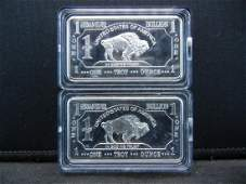 CLAD2 One Troy Ounce German Silver Collector Bars Clad
