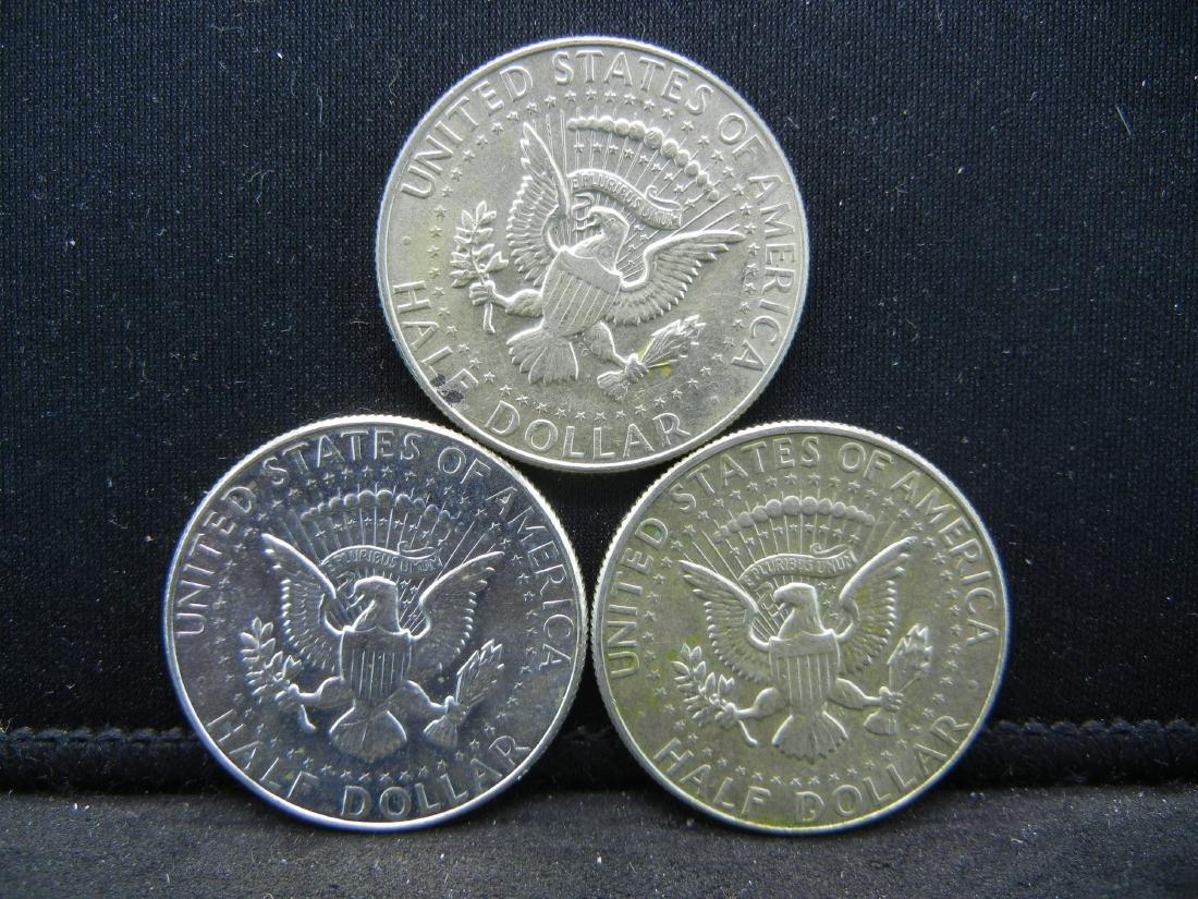 1966, 1967, 1968-D 40% Silver Kennedy Halves - 2