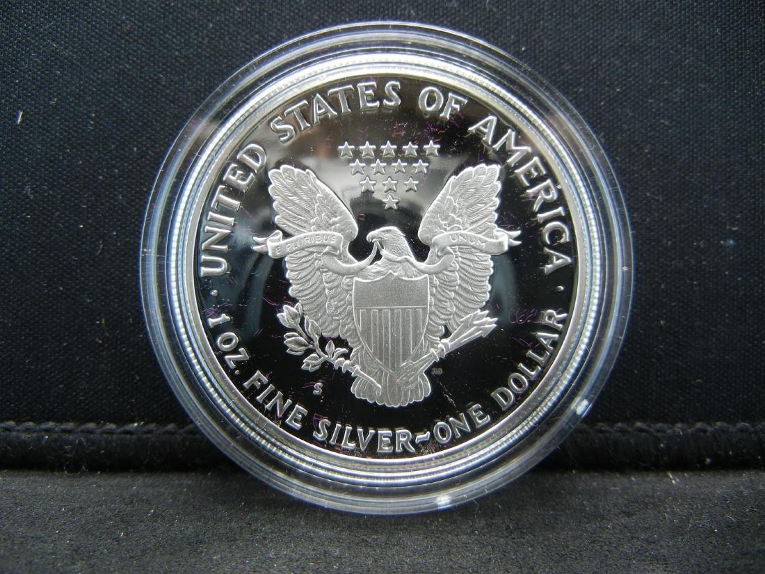1990-S Proof Silver American Eagle With Box & COA. - 3