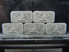 5 One Gram Titanium Bullion Bars Mayflower Collector