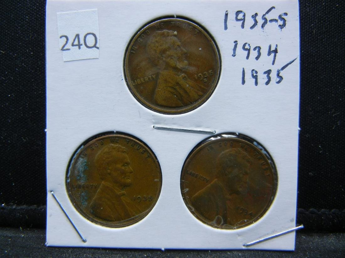 1934, 35, 35-S Lincoln Wheat Cents