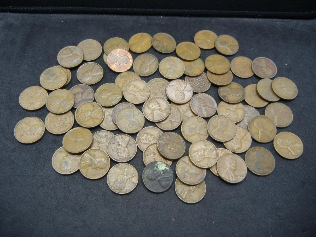 Bag of 68 Lincoln Wheat Cents