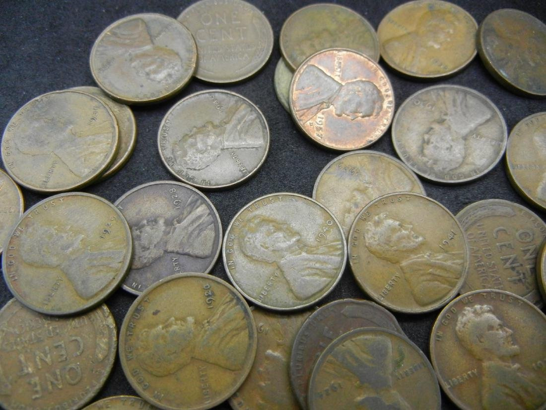 Bag of 68 Lincoln Wheat Cents - 3