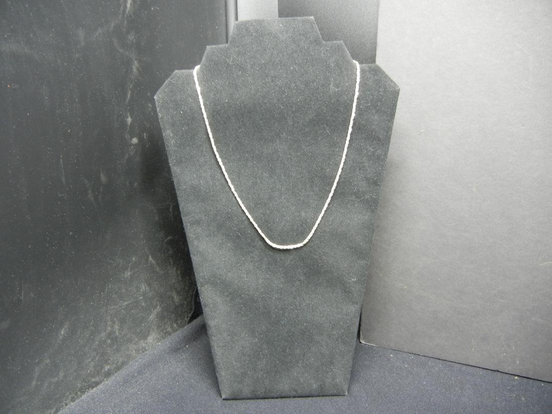 20 Inch Sterling Silver Necklace.  Weighs 0.20 Troy