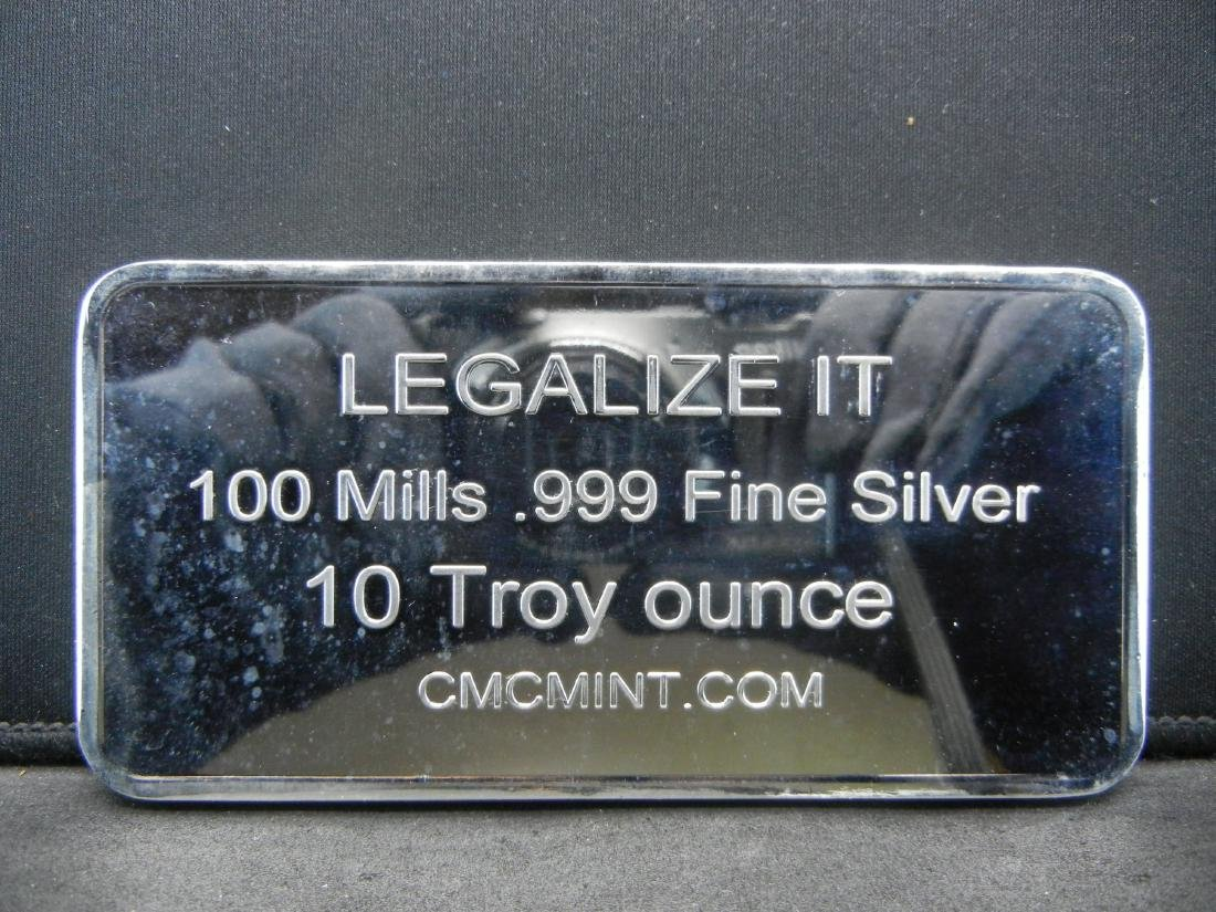 10 Troy Ounce 100 Mills .999 Fine Silver This Bar is - 2