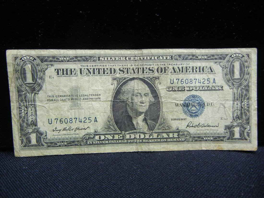 (2)1957 $1 US Silver Certificates - 2