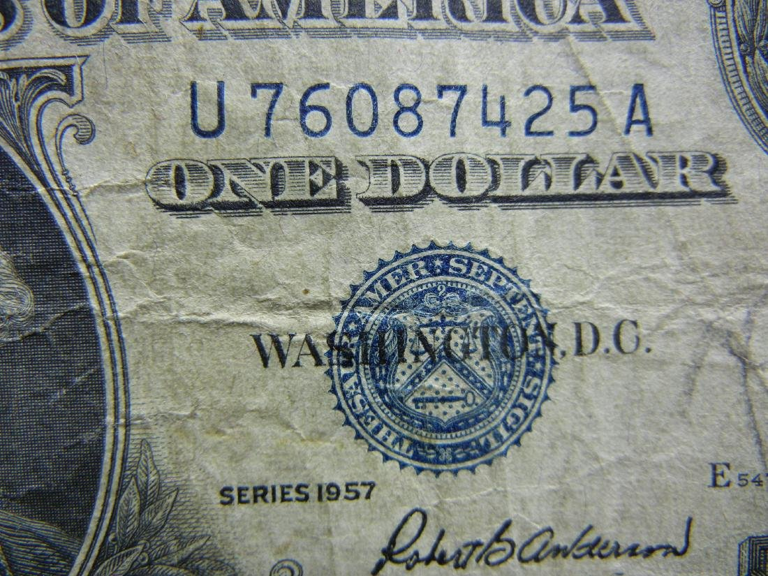 (2)1957 $1 US Silver Certificates - 3