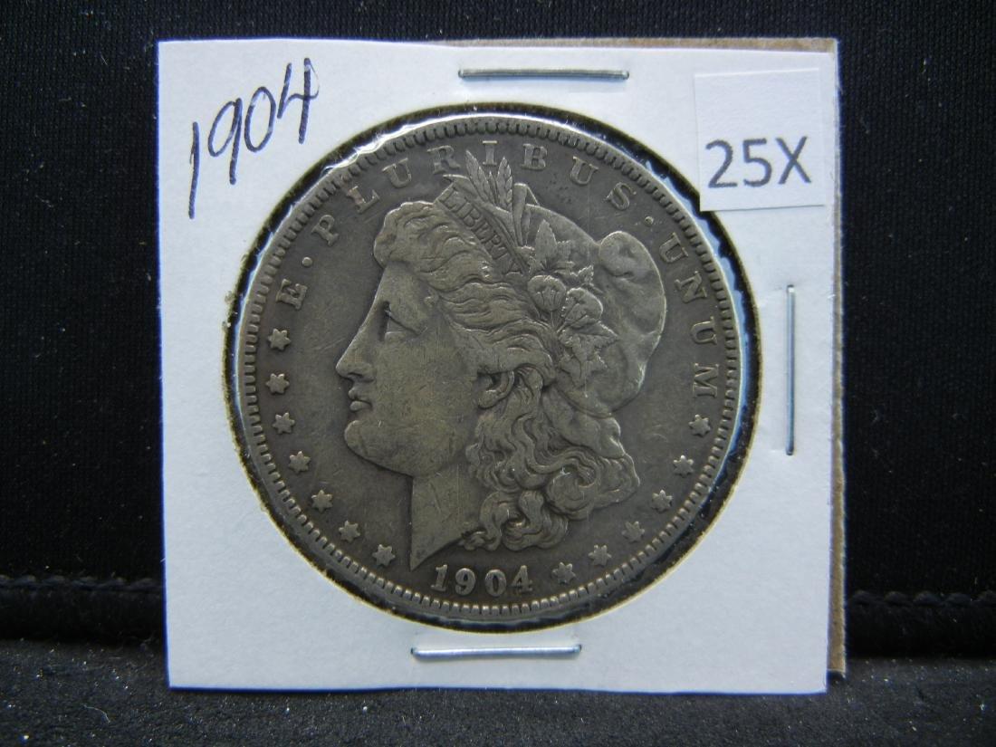 1904 Morgan Silver Dollar - 3