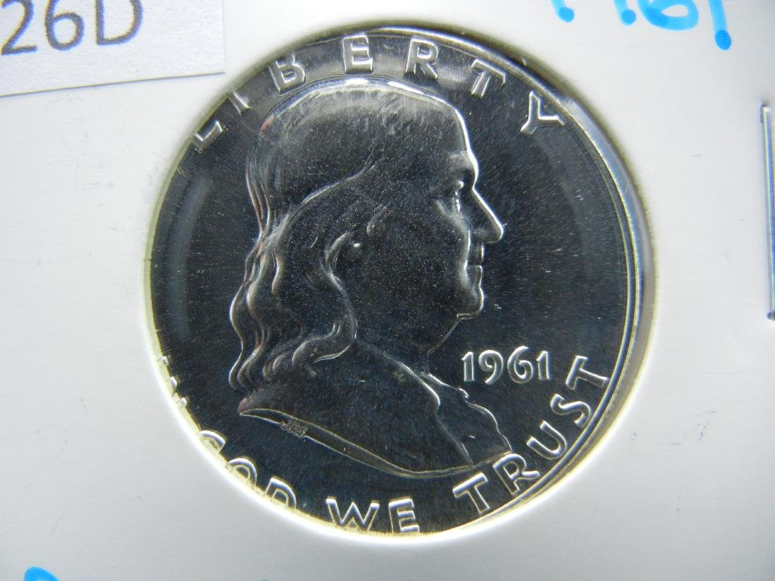 1961 Silver Franklin Half Dollar