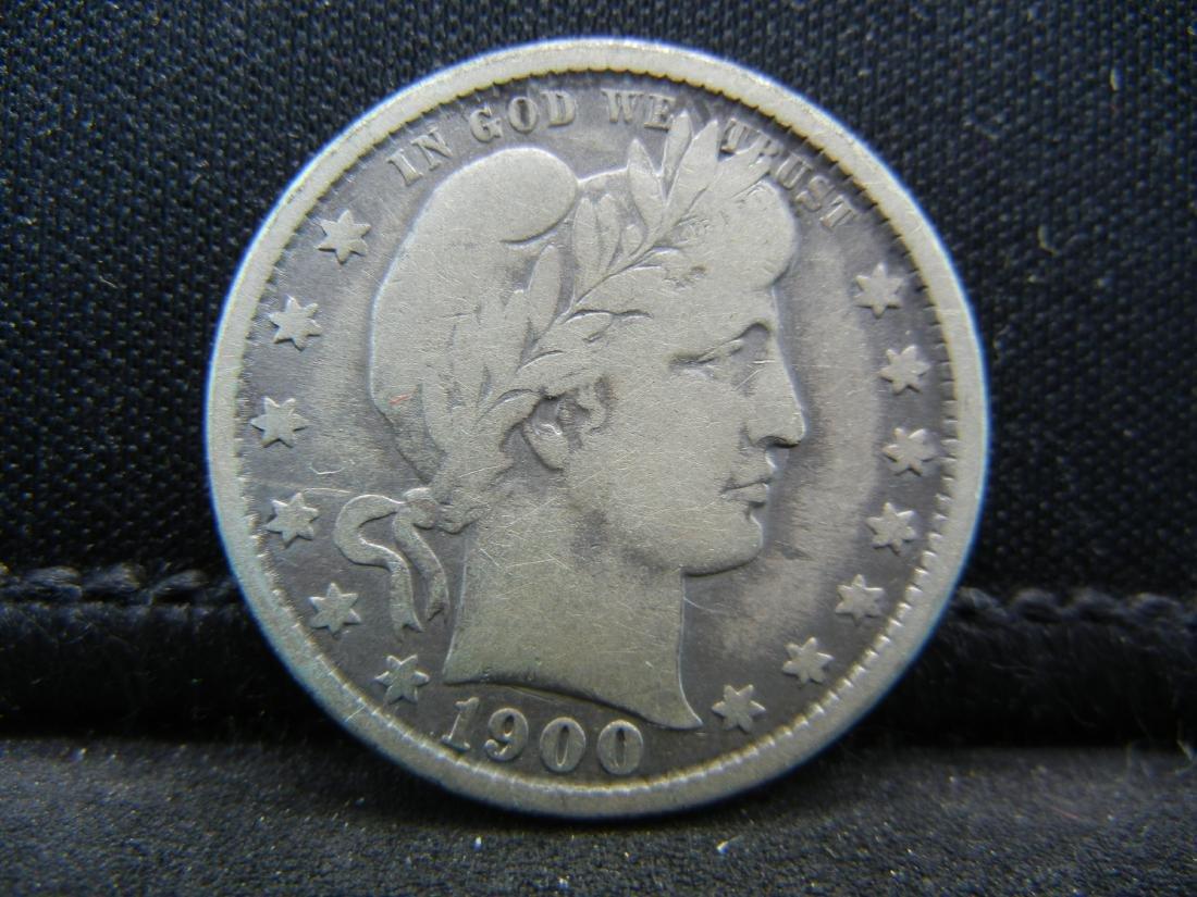 1899-O Barber Quarter, Readible Liberty, Fine or Better