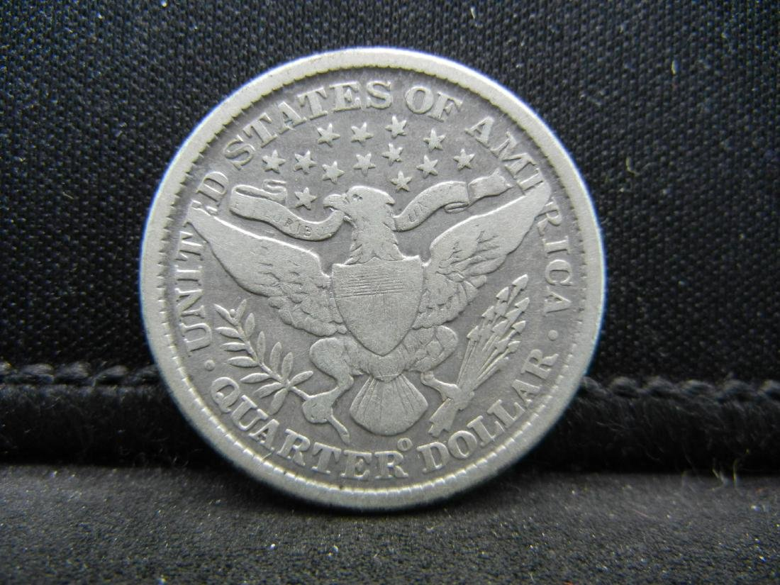 1899-O Barber Quarter, Readible Liberty, Fine or Better - 2