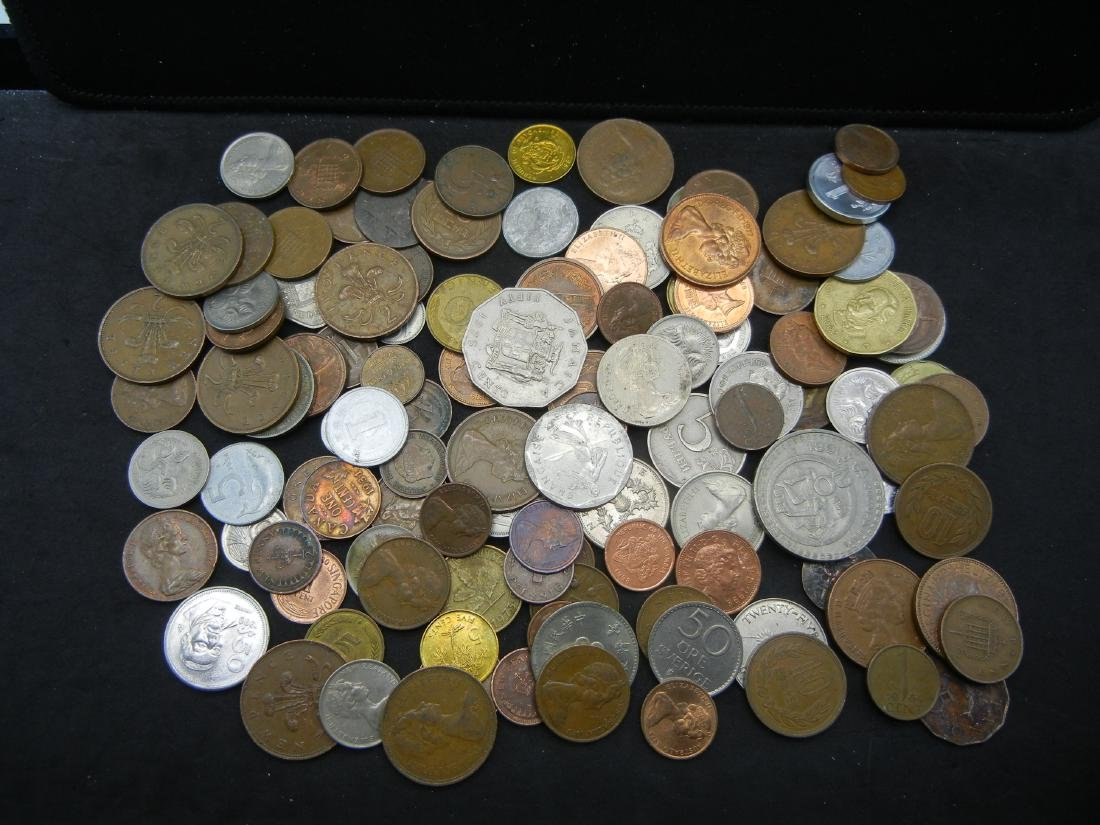 Lot of Foreign Coins. 1.3 Pounds