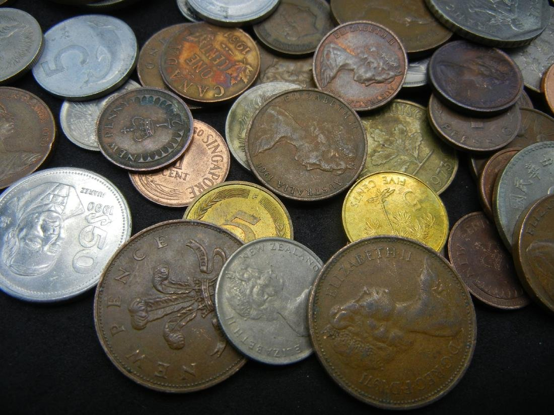 Lot of Foreign Coins. 1.3 Pounds - 2