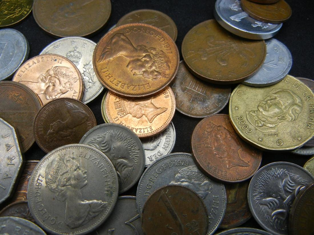 Lot of Foreign Coins. 1.3 Pounds - 4