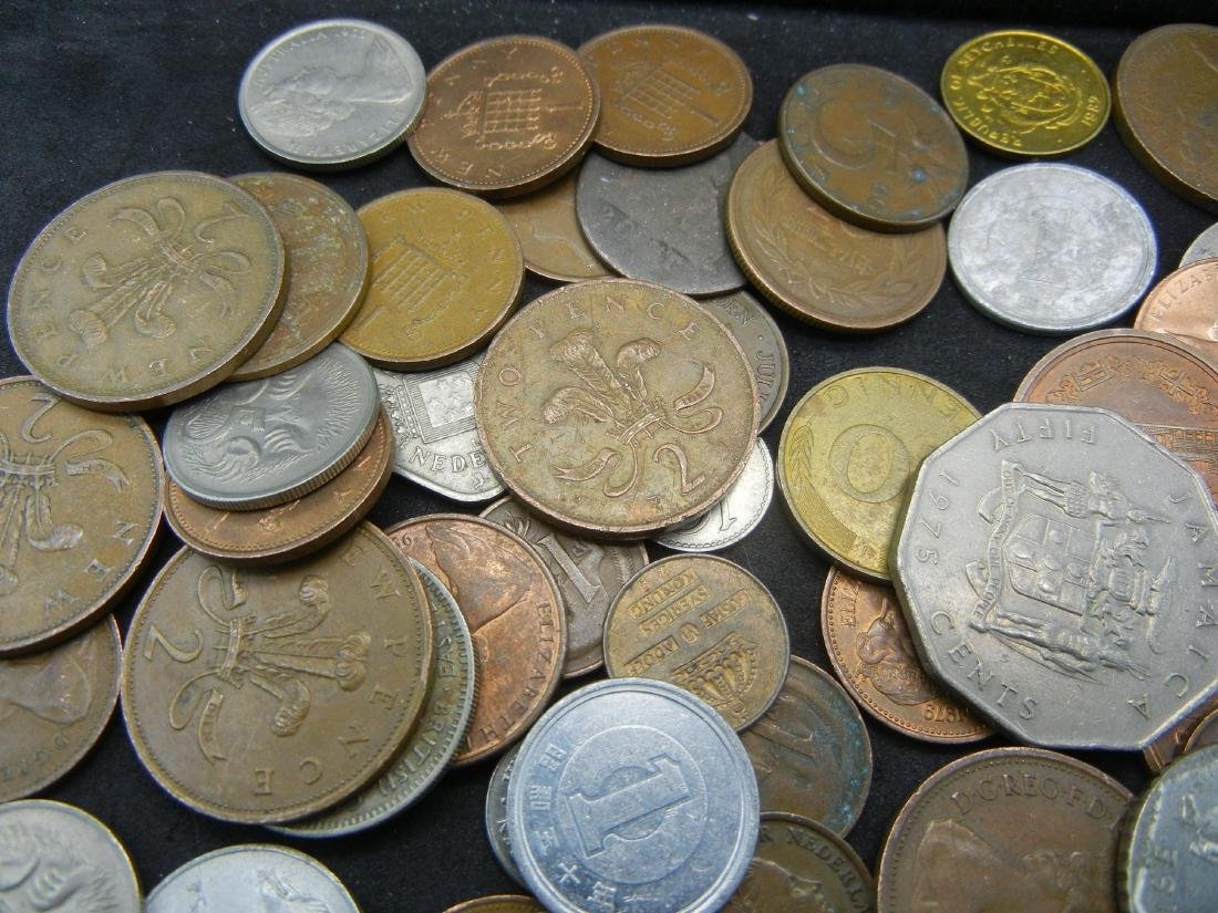 Lot of Foreign Coins. 1.3 Pounds - 5