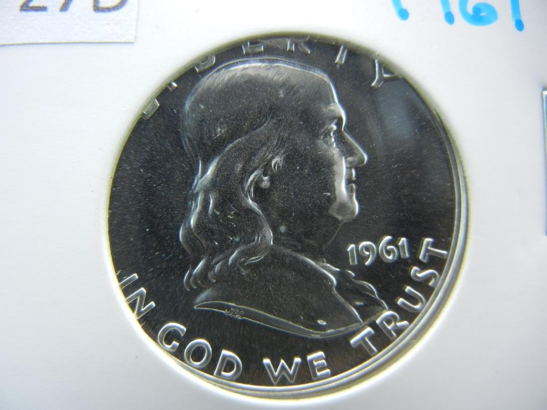 1961 Silver Franklin Half Dollar