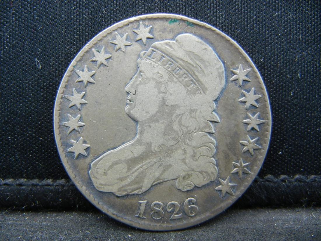 1826 Draped Bust Half Dollar.